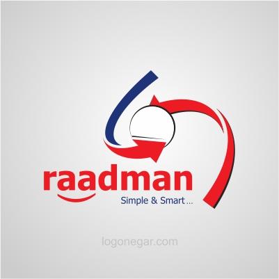 نمونه طراحی لوگو حرفه ای که توسط لوگونگار انجام شده   طراحی لوگو ...طراحی لوگوی شرکت بازرگانی رادمن. trading company logo design